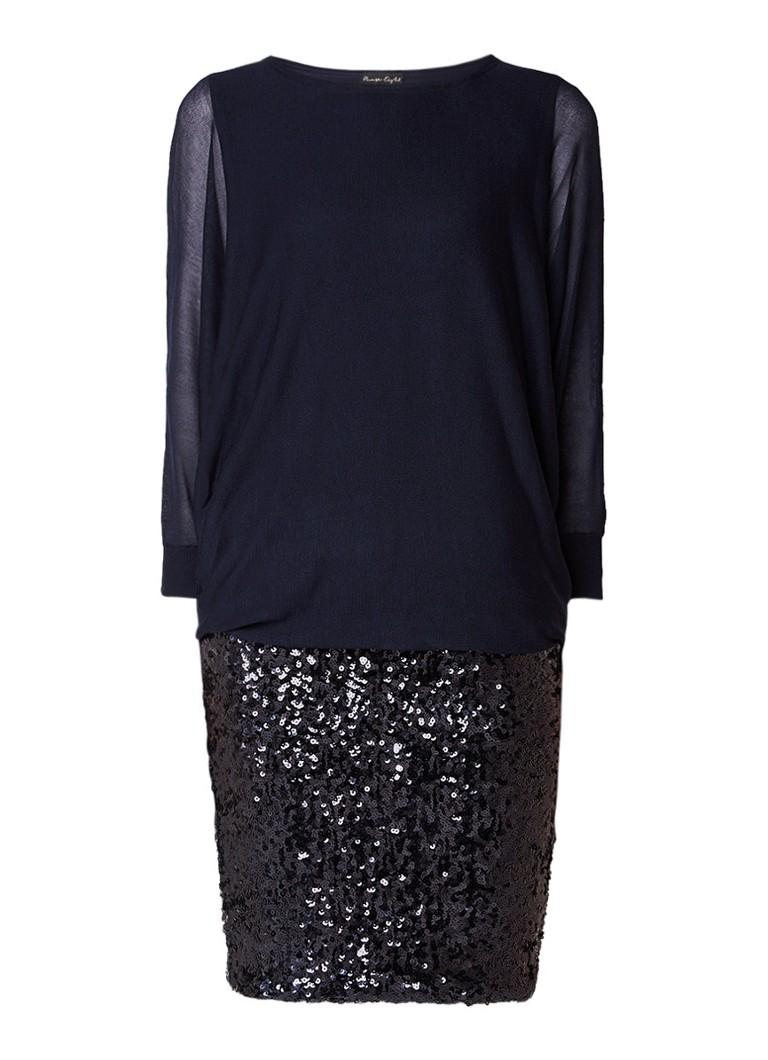 Phase Eight Geonna mini-jurk met overlay en pailletten donkerblauw
