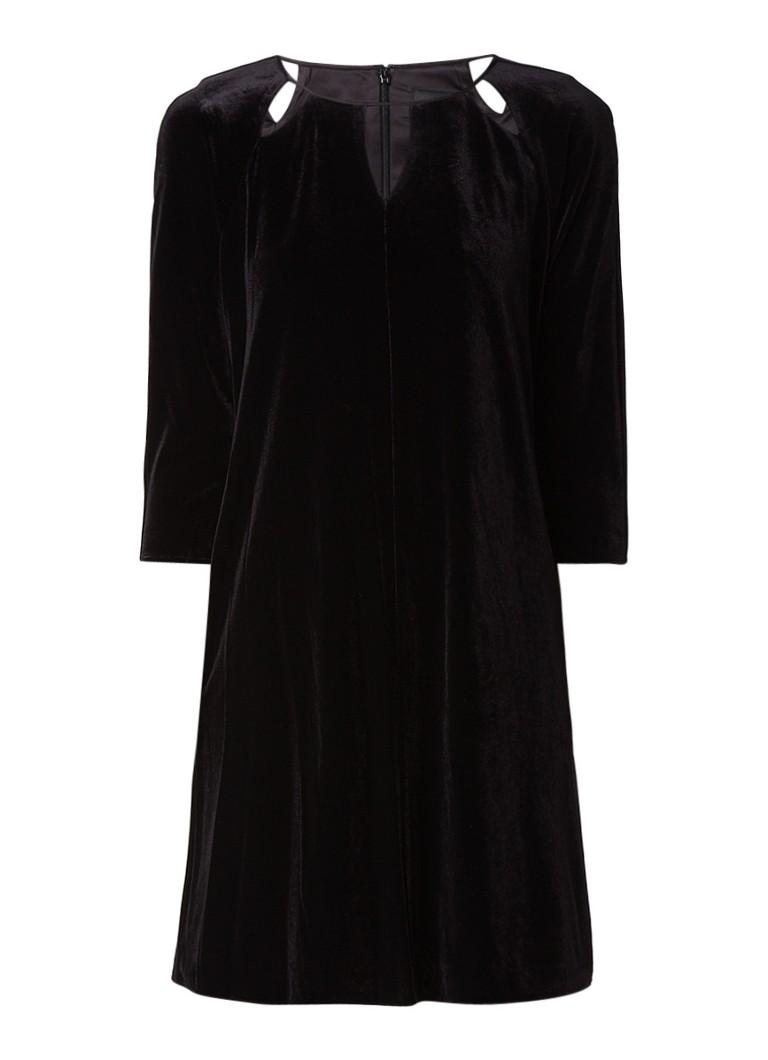 Phase Eight Zoe mini-jurk van fluweel met cut-out detail zwart