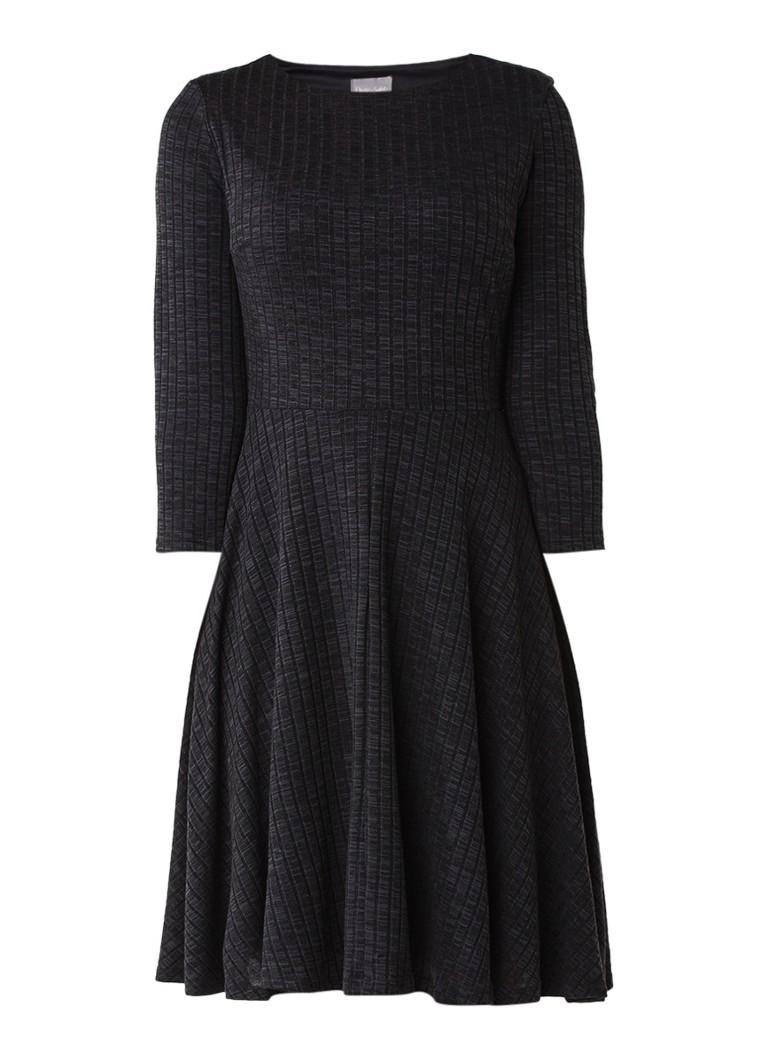 Phase Eight Rosa A-lijn jurk met ribstructuur donkergrijs