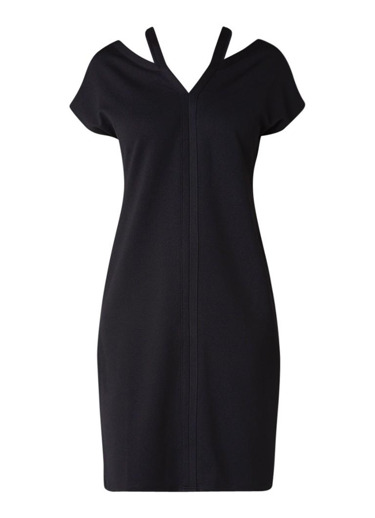 Phase Eight Dani midi jurk van crêpe met v-hals zwart