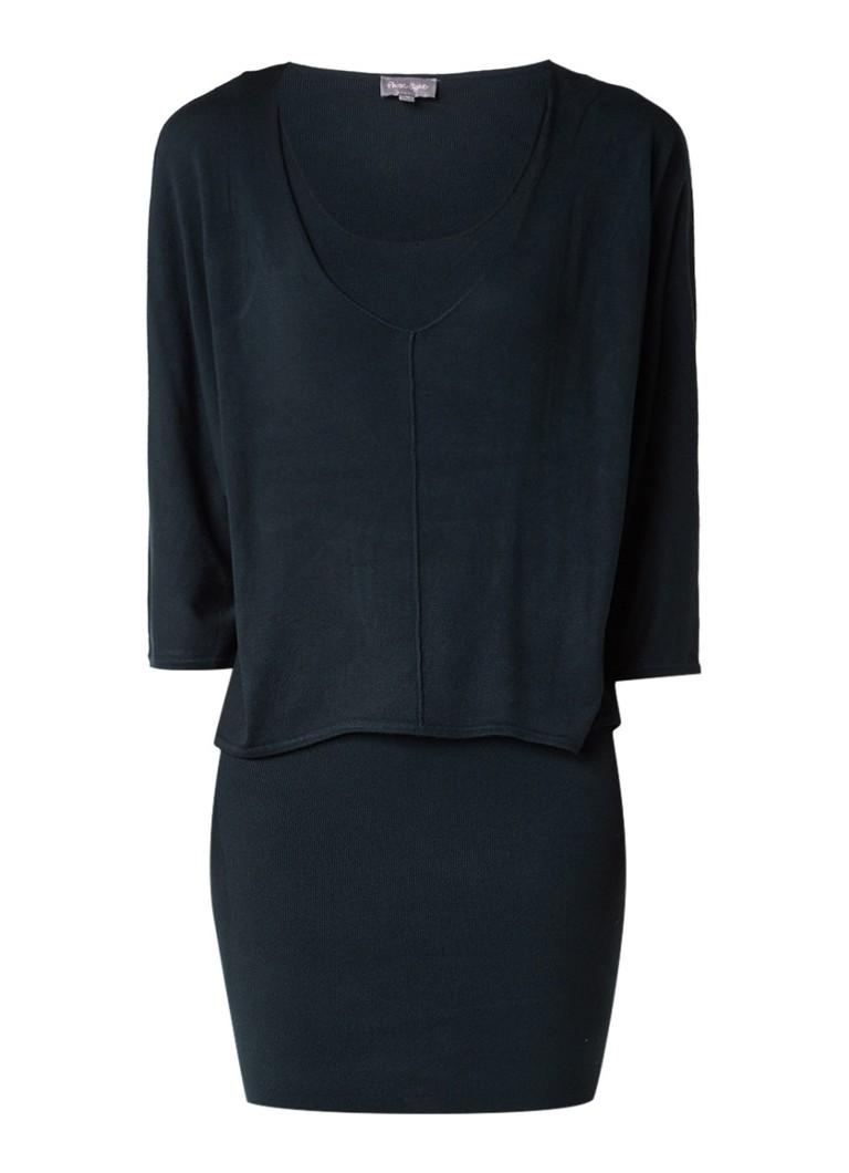 Phase Eight Carmen fijngebreide midi-jurk met loose fit top donkergroen