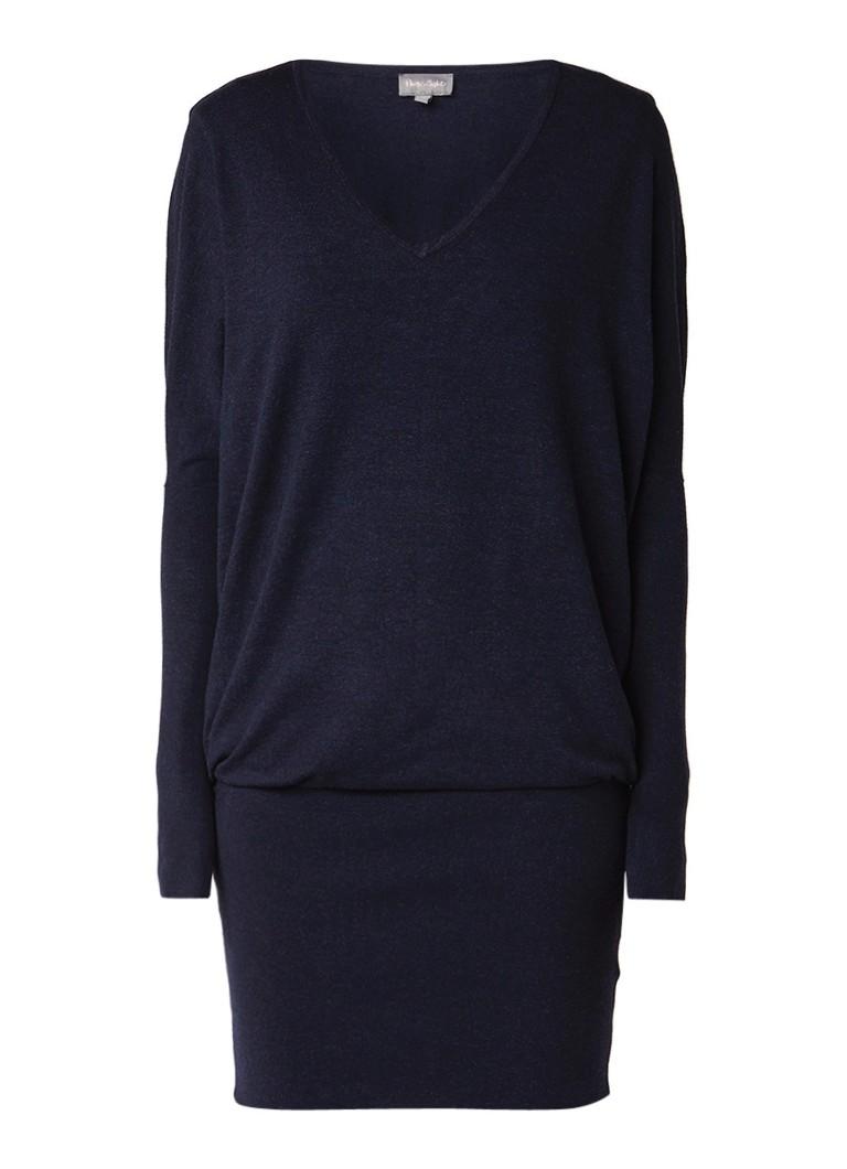 Phase Eight Becca fijngebreide jurk met V-hals donkerblauw
