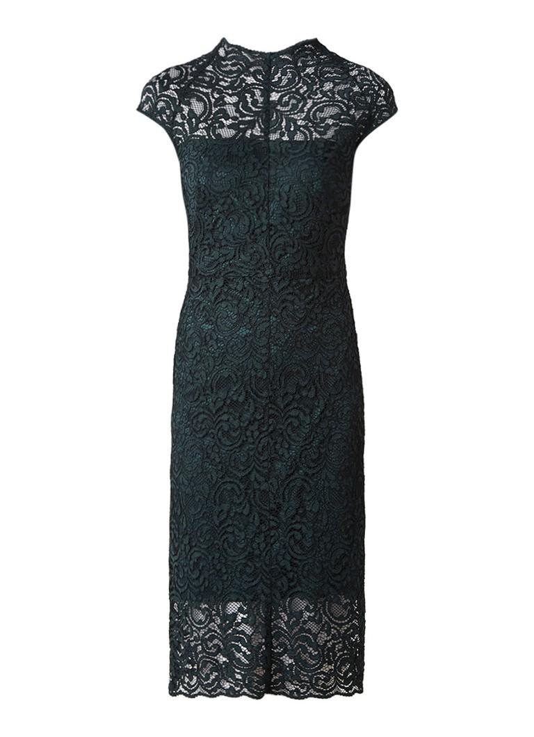Phase Eight Becky midi jurk met overlay van kant donkergroen