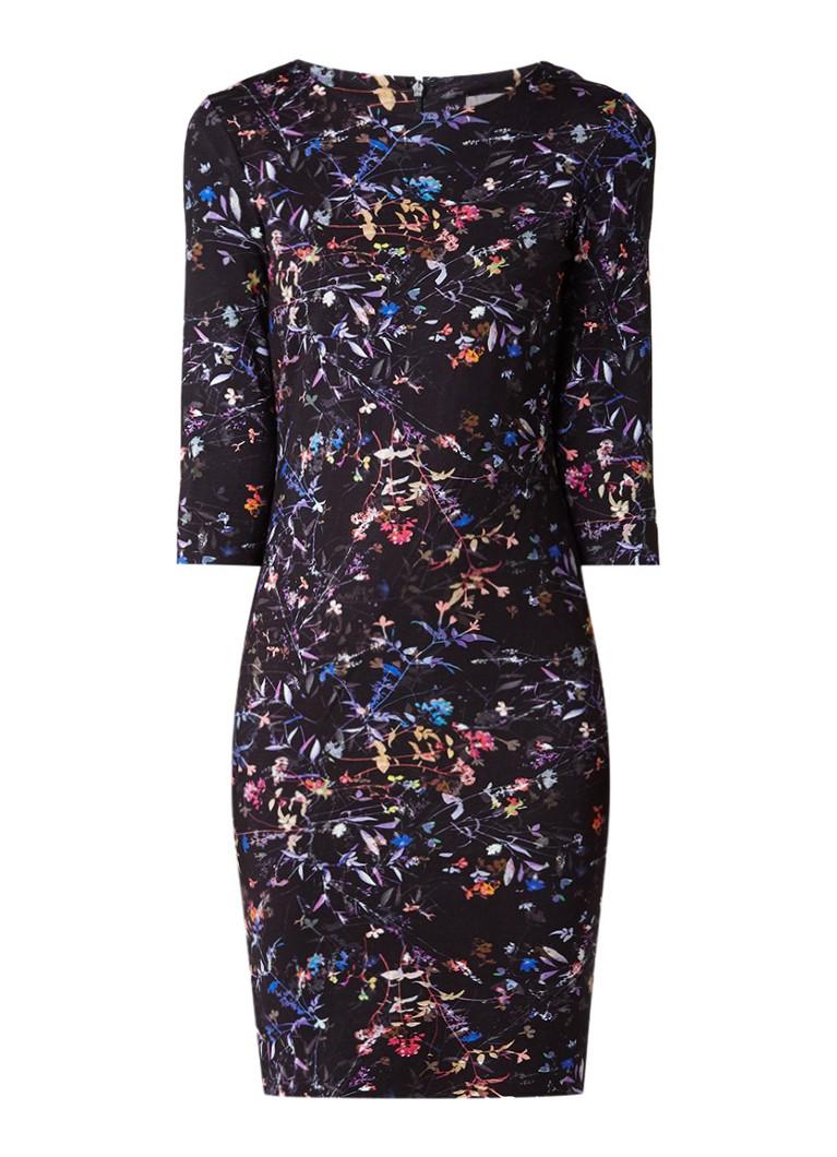Phase Eight Midnight Garden neopreen midi-jurk met bloemendessin multicolor