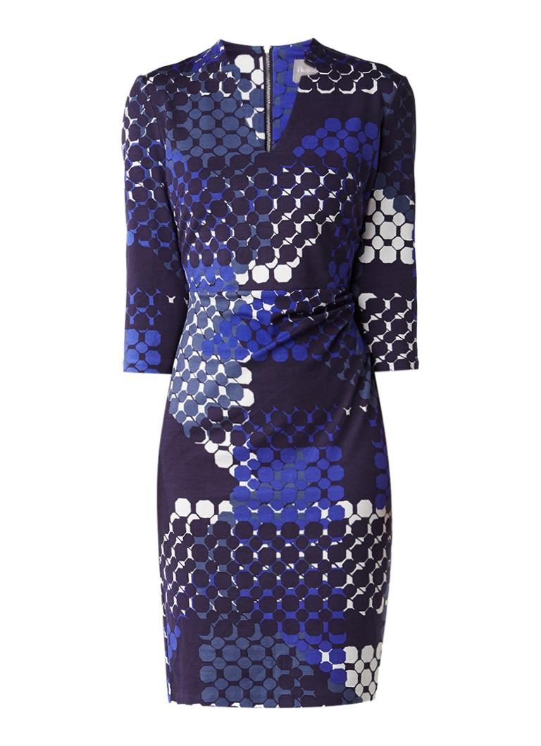 Phase Eight Ginny midi-jurk met dessin donkerblauw