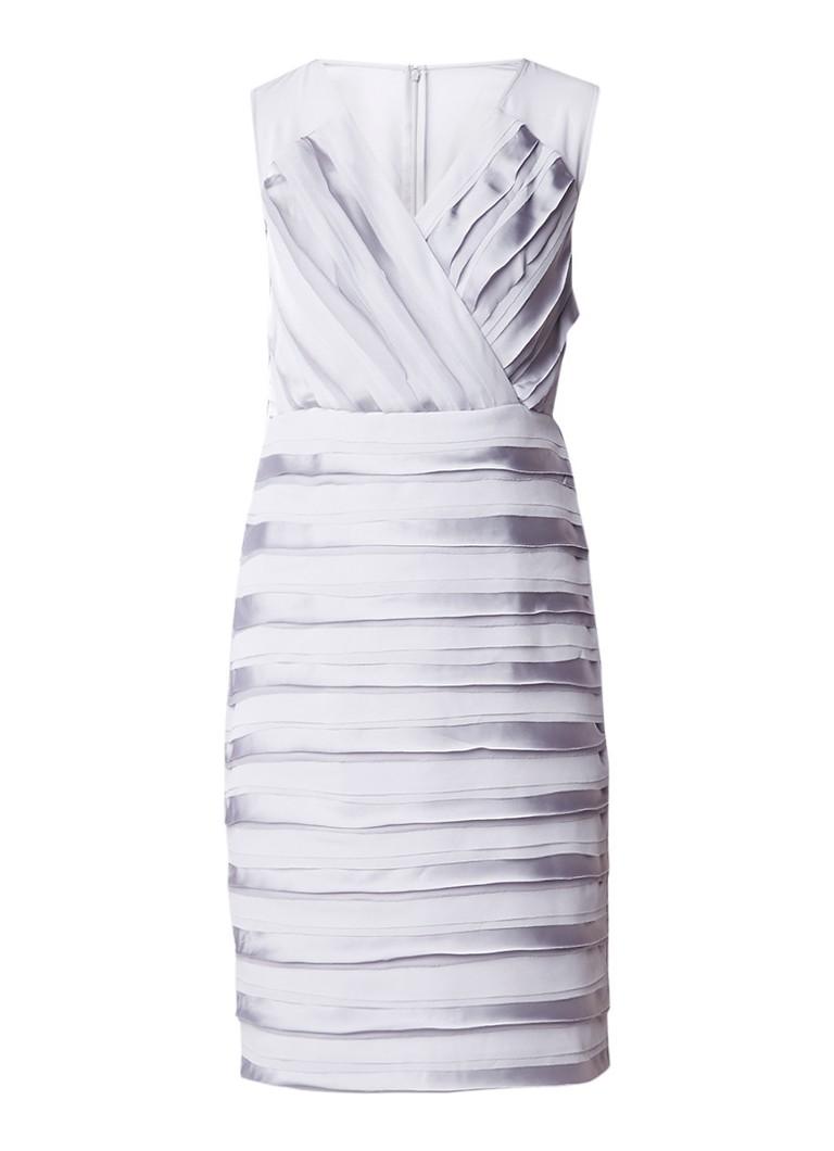 Phase Eight Sadie gelaagde midi-jurk met inzet van crêpe grijs