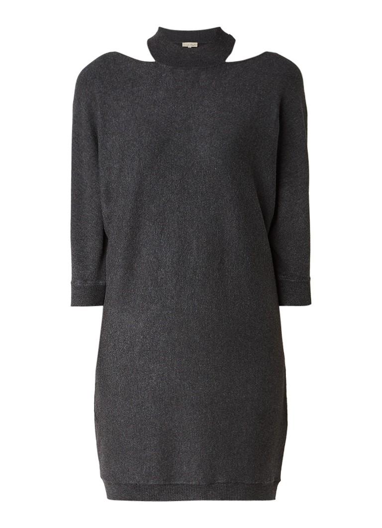 Phase Eight Colletta fijngebreide jurk met col donkergrijs