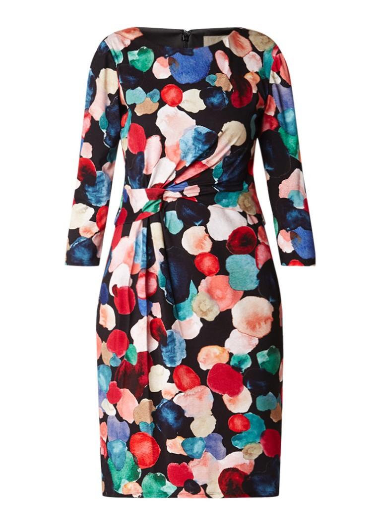 Phase Eight Artist Pallet midi-jurk met geplooid detail zwart
