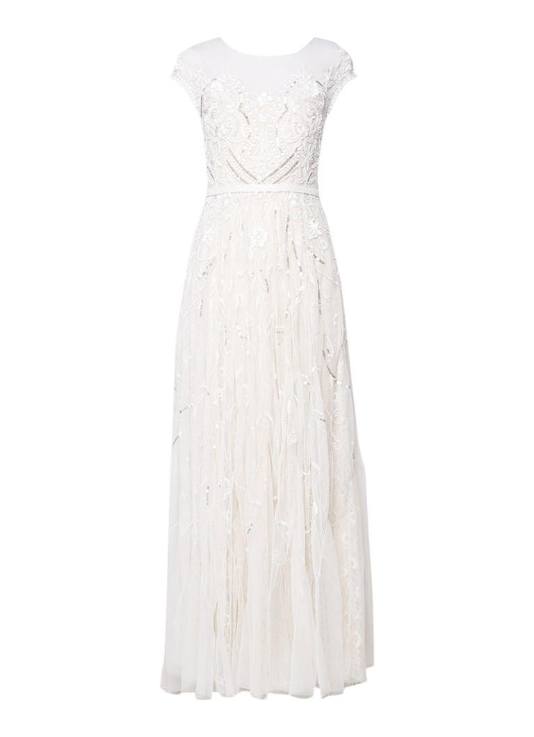 Phase Eight Liliana trouwjurk met kant en kralendetails gebroken wit