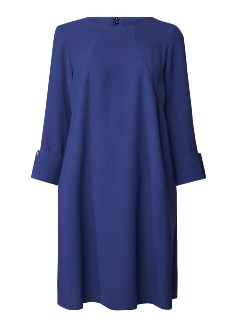 Phase Eight Bettina mini-jurk met steekzakken staalblauw