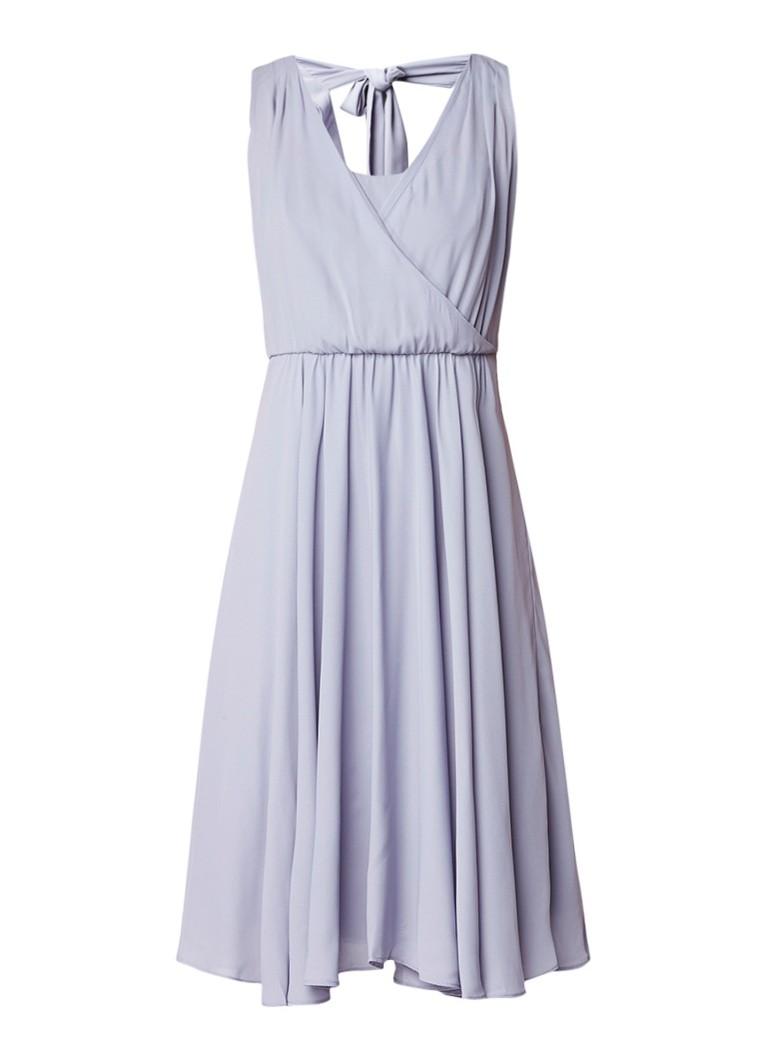 Phase Eight Rosa A-lijn jurk van crêpe met overlay lavendel