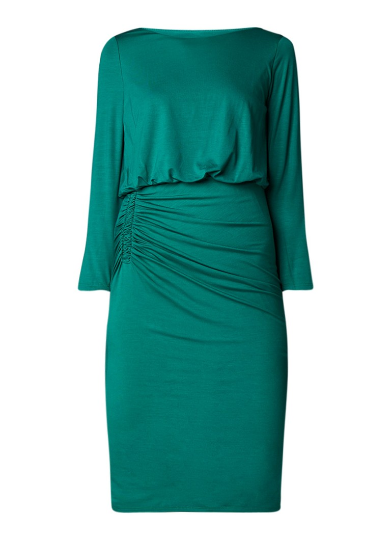 Phase Eight Rebecca jurk van jersey met rimpeldetail donkergroen