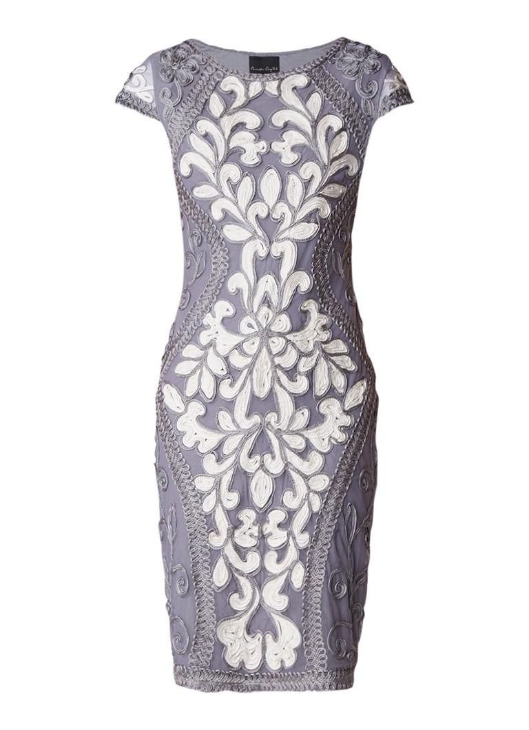Phase Eight Perdy midi-jurk met tapework grijs