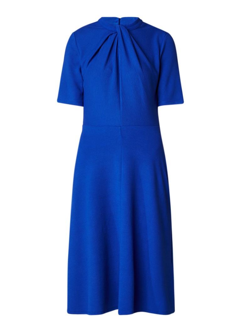Phase Eight Tamsin jurk van crêpe met knoopdetail kobaltblauw