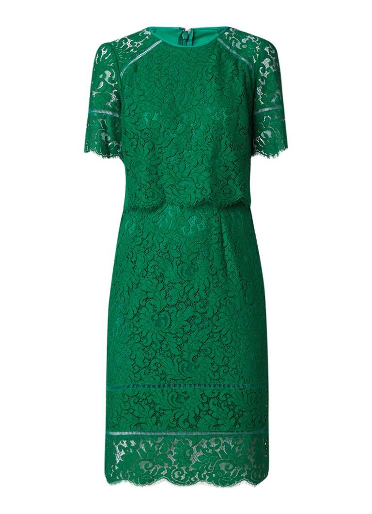 Phase Eight Alisha midi-jurk van kant zeegroen