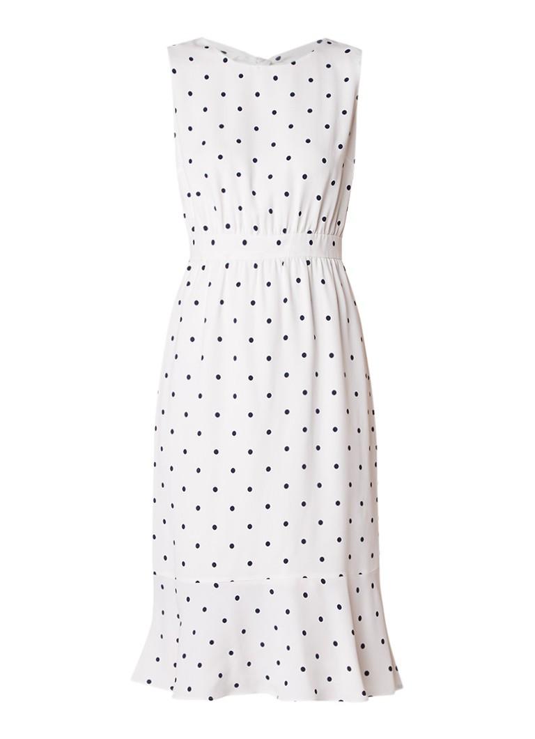 Phase Eight Alison A-lijn jurk van crêpe met stippendessin ivoor