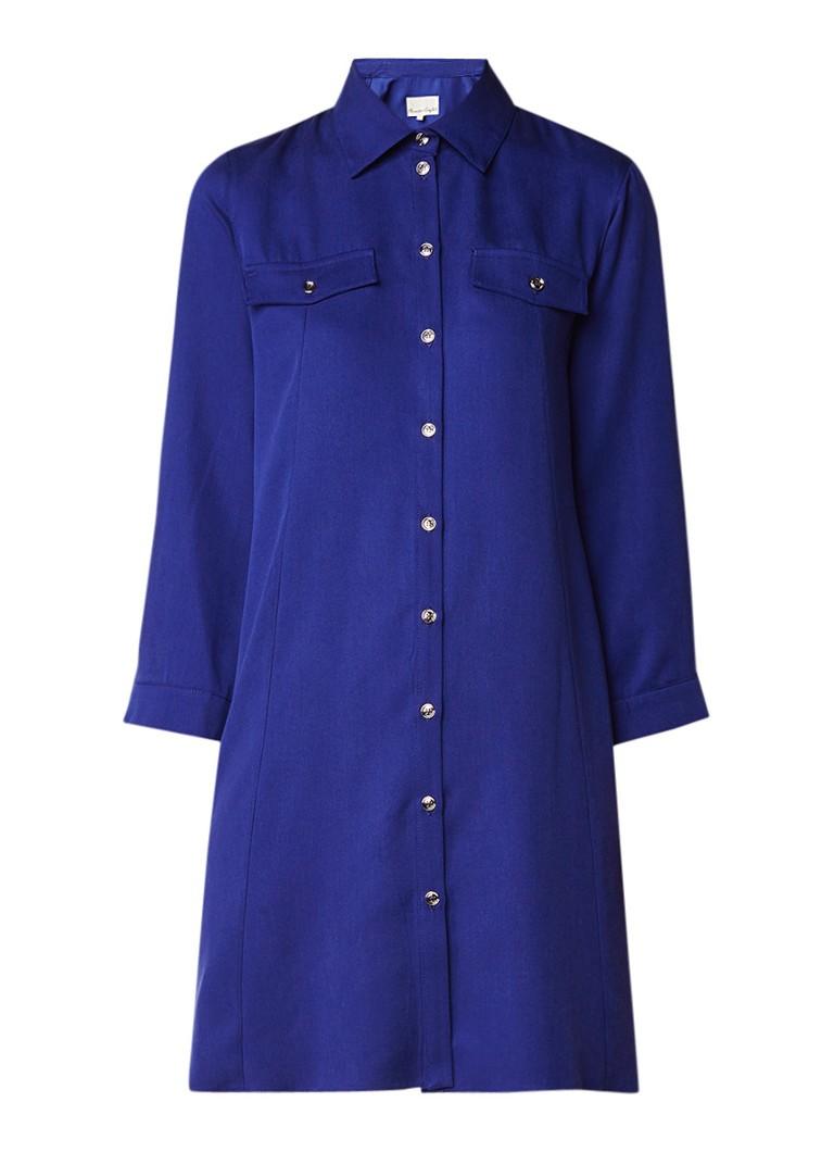 Phase Eight Montana blousejurk met borstzak kobaltblauw
