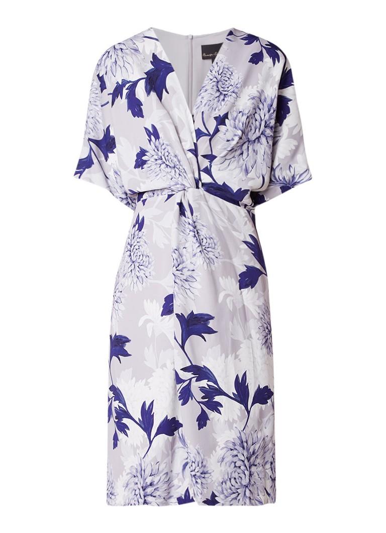 Phase Eight April jurk van crêpe met ceintuur lila
