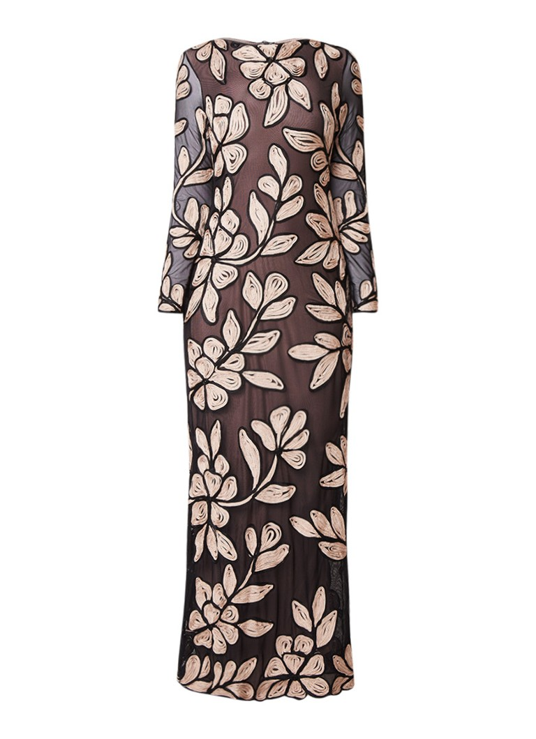 Phase Eight Angela maxi-jurk met tapework oudroze