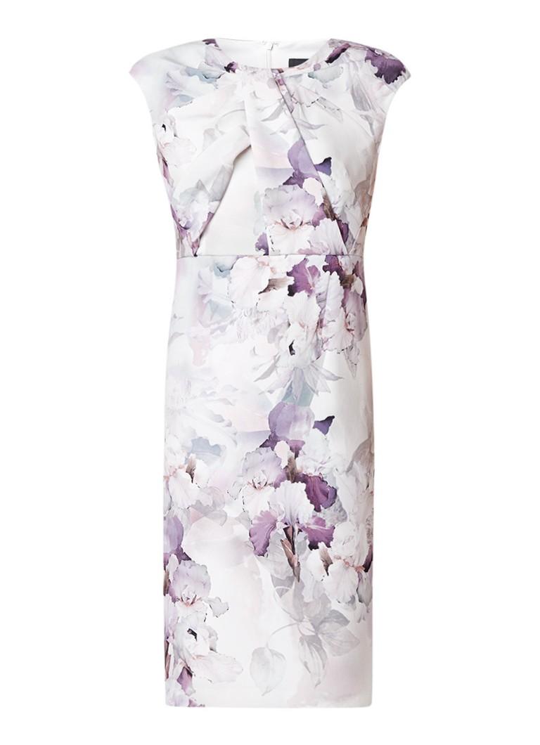 Phase Eight A-lijn jurk met bloemendessin en draperie detail lila