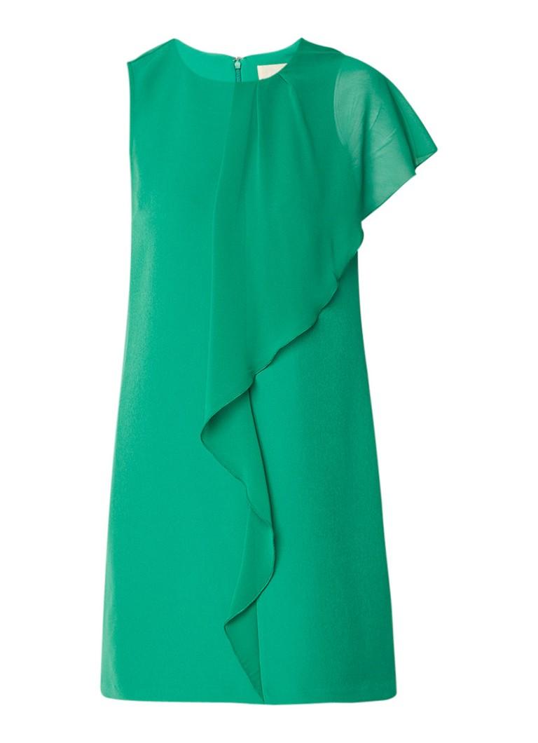 Phase Eight Morganna mouwloze jurk met volant detail groen