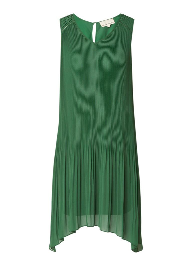 Phase Eight A-lijn jurk met plissé en strikceintuur legergroen