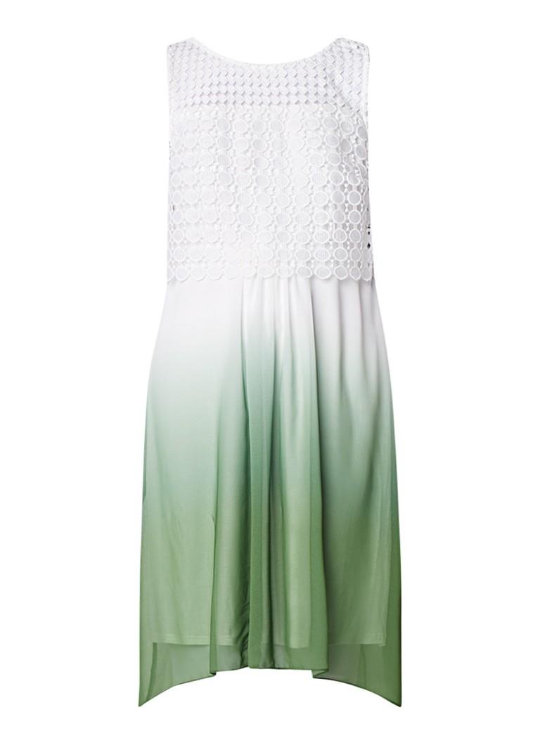 Phase Eight Dorothy midi-jurk met broderie en ombré effect groen