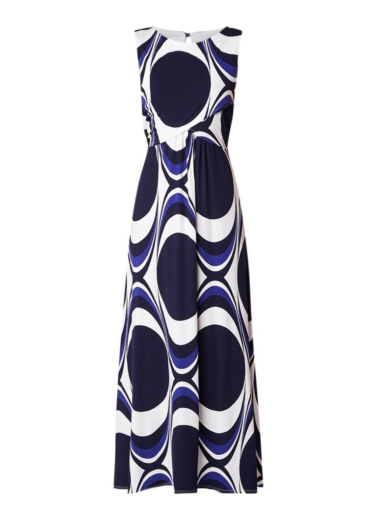 Phase Eight Circles maxi jurk van jersey met grafisch dessin blauw