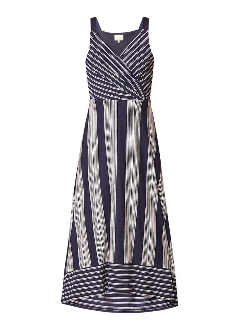 Phase Eight Maisie maxi-jurk met streepdessin donkerblauw