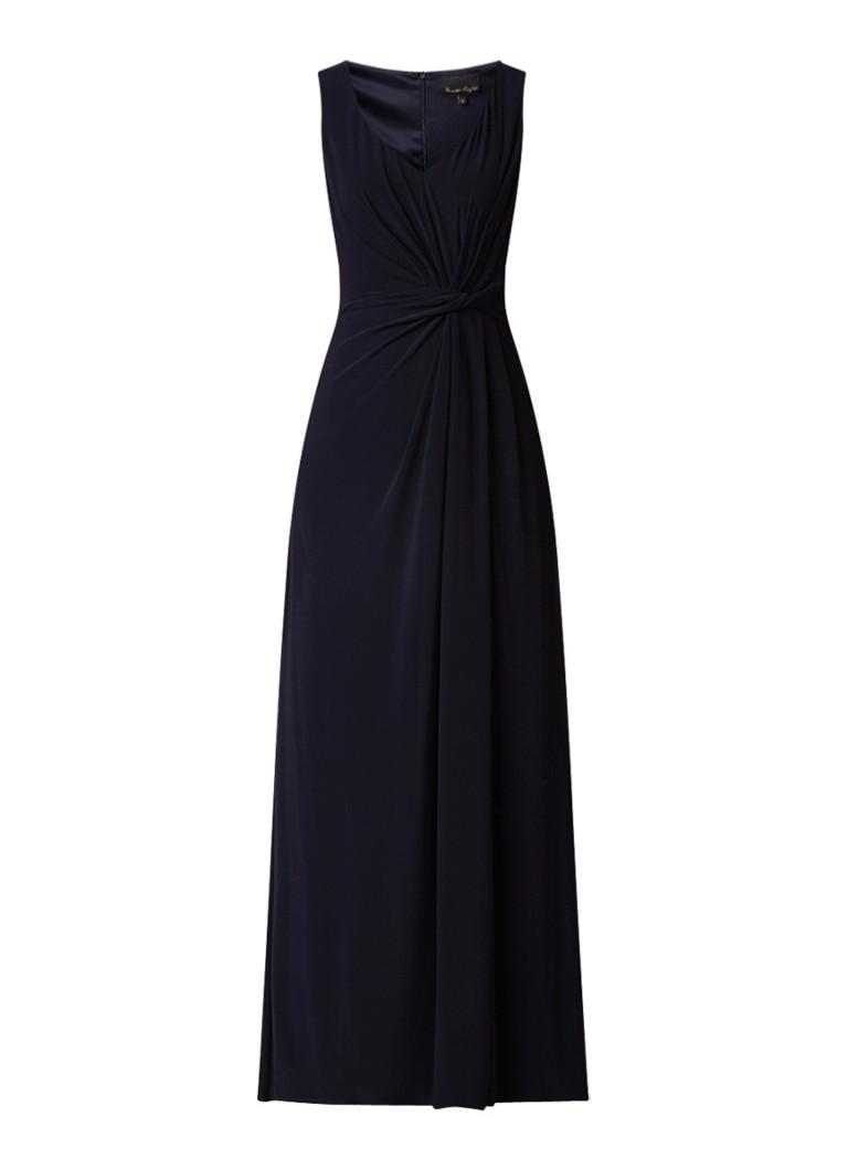 Phase Eight Carrie maxi-jurk met gedrapeerd detail donkerblauw