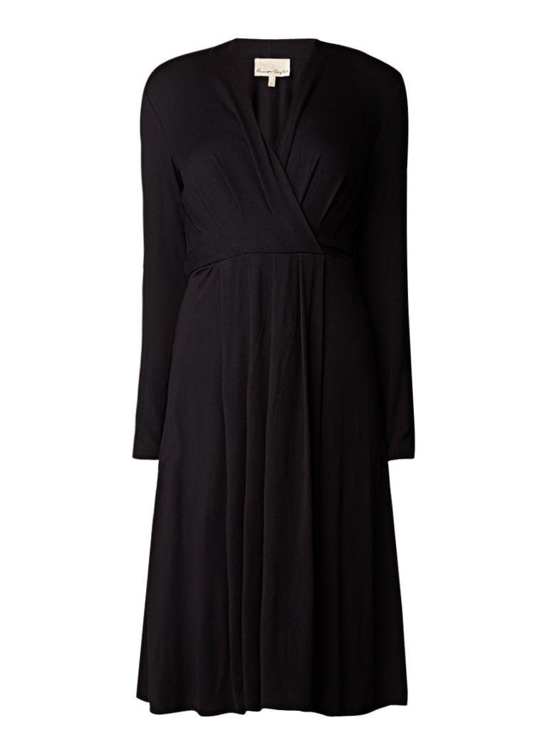 Phase Eight Pauline midi-jurk van jersey met plooien zwart