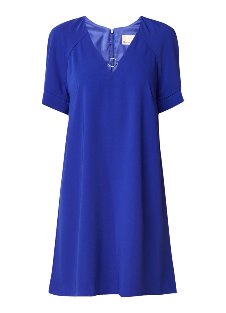 Phase Eight Jodie A-lijn jurk met eyelet kobaltblauw