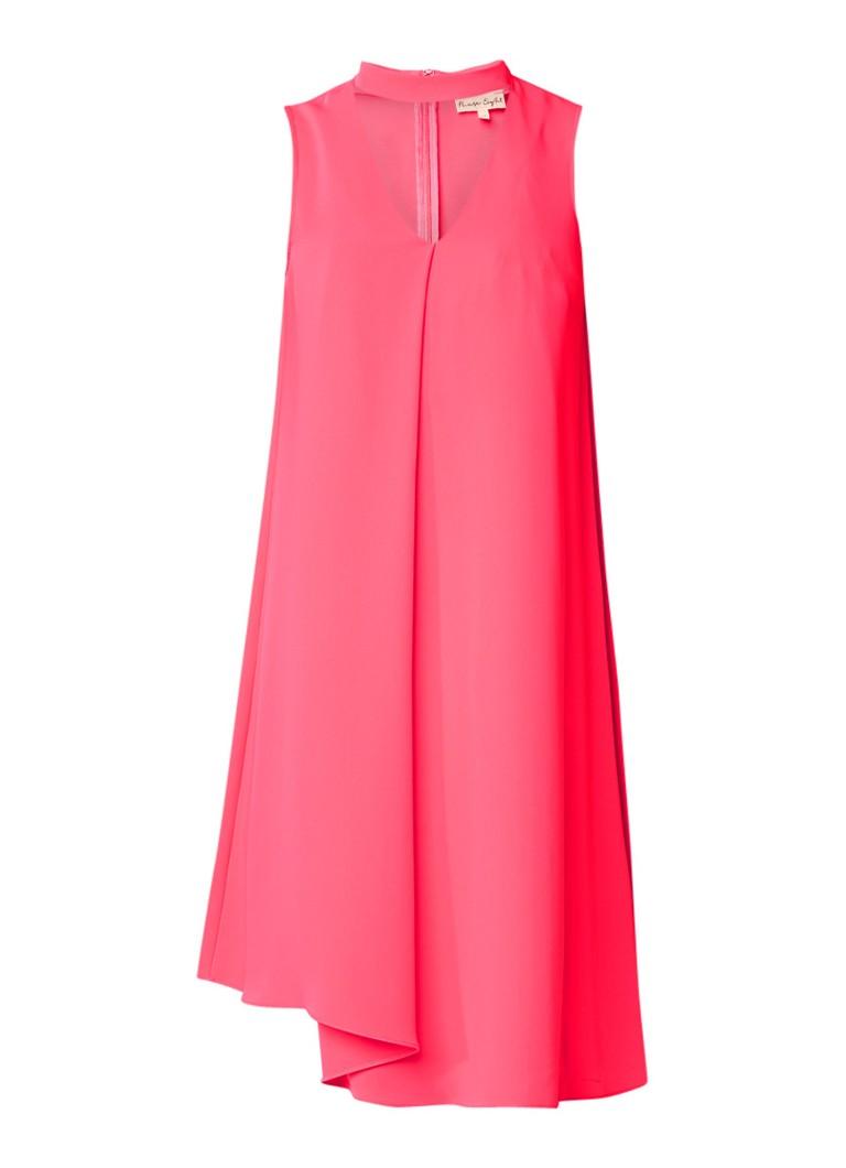 Phase Eight Taylor A-lijn jurk met keyhole en plooidetail neonroze