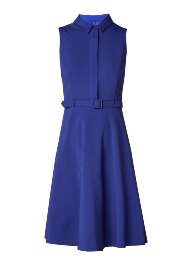 Phase Eight Claire A-lijn blousejurk met ceintuur royalblauw