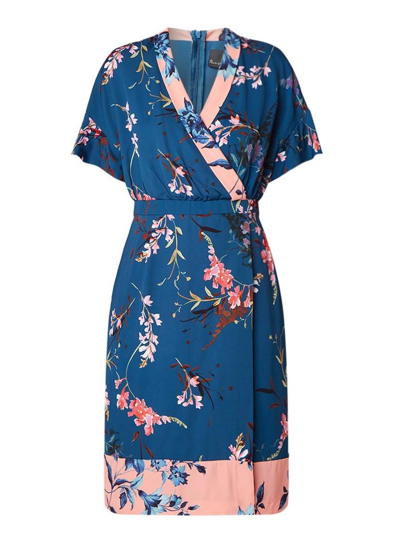 Phase Eight Dianah midi-jurk van crêpe met omslag en kimono look petrol