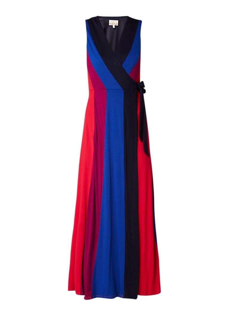 Phase Eight Magdala maxi wikkeljurk van jersey met colour blocking multicolor