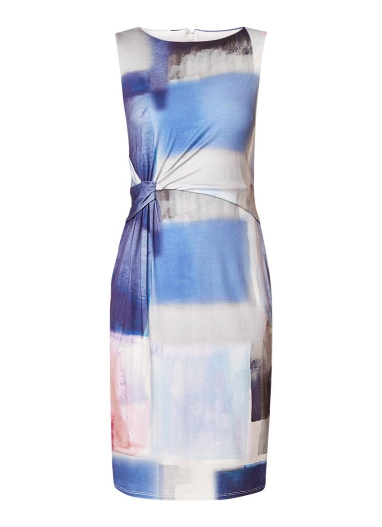 Phase Eight Morandi midi-jurk met plooidetail en kleurverloop middenblauw