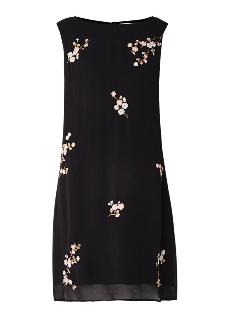 Phase Eight Hina mouwloze jurk met bloemborduring zwart