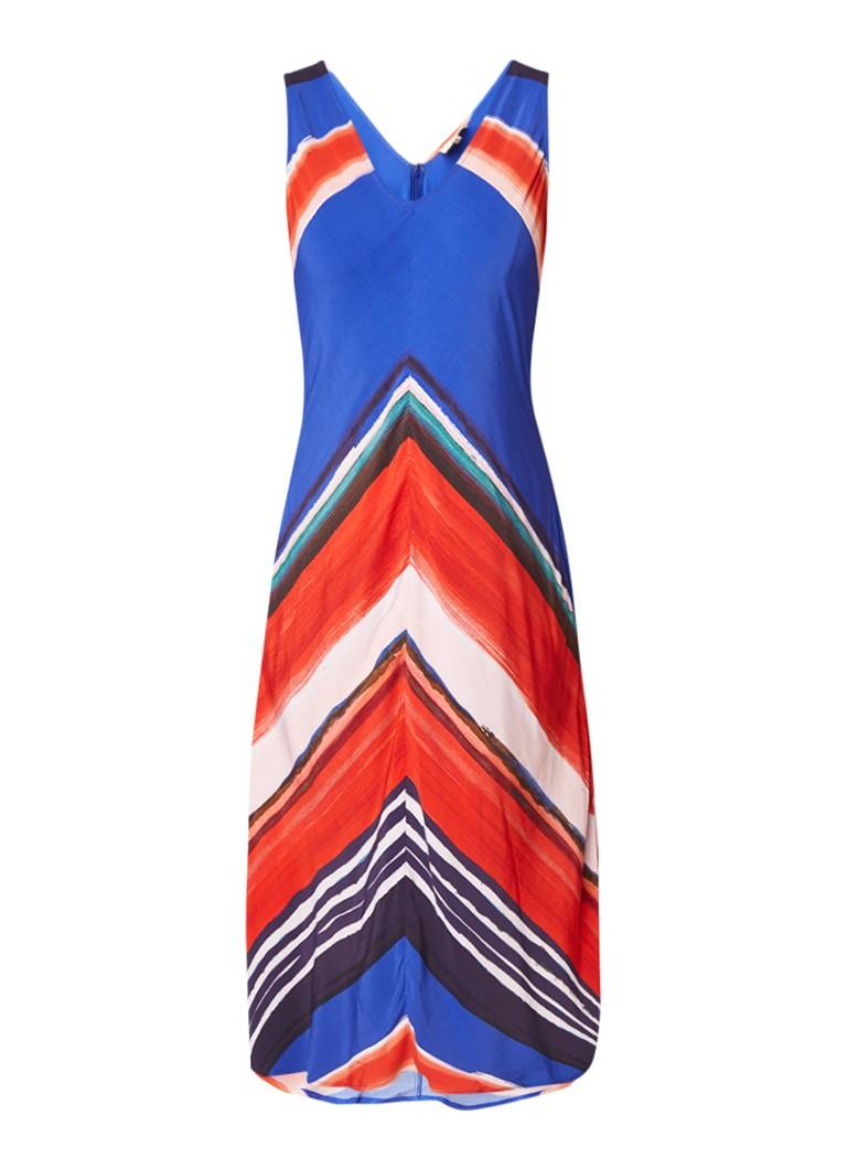 Phase Eight Cersi A-lijn jurk met steekzak en print royalblauw