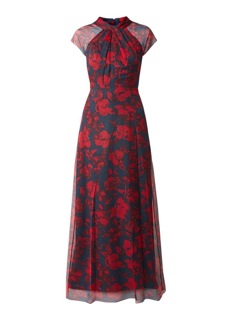 Phase Eight Fredrica maxi-jurk met bloemendessin rood