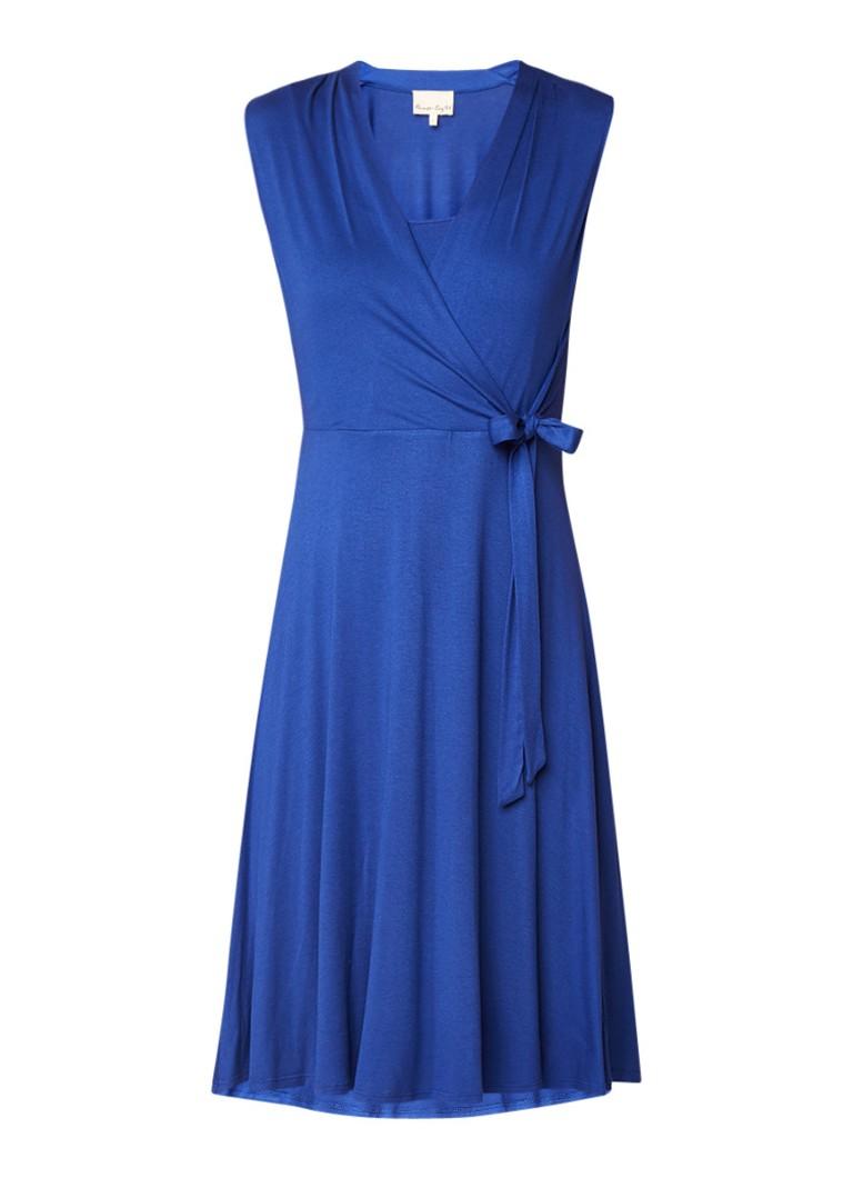Phase Eight Wendelin wikkeljurk van jersey kobaltblauw