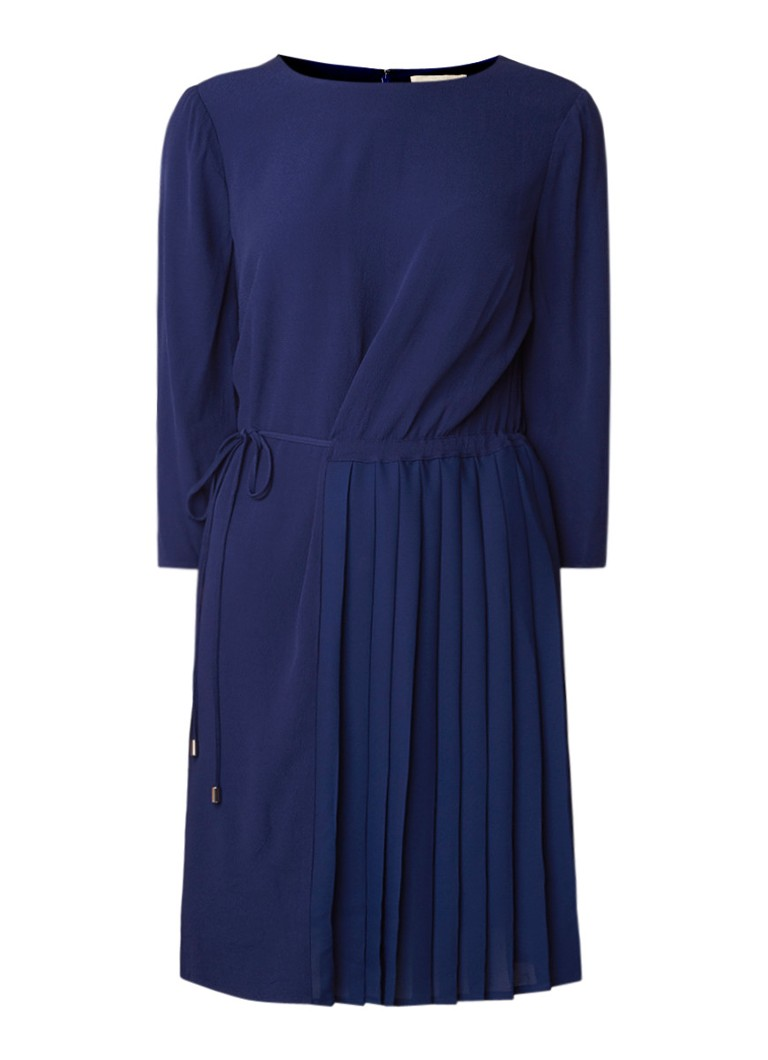 Phase Eight Michelle midi-jurk van crêpe met plissé-detail donkerblauw