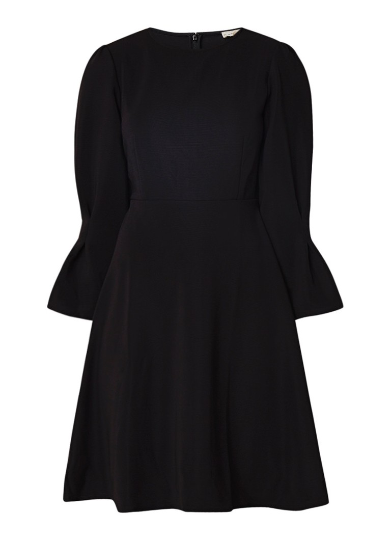 Phase Eight Raya A-lijn jurk van jersey met klokkende mouw zwart