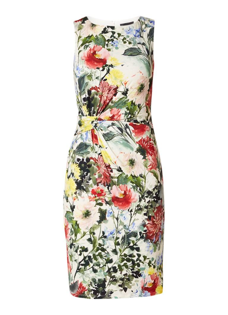 Phase Eight Evangelie mouwloze midi-jurk met bloemendessin gebroken wit