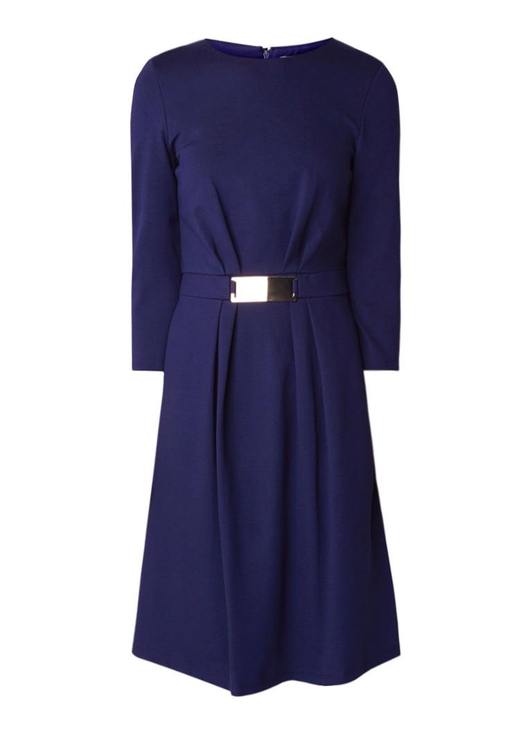 Phase Eight Parisa Ponte midi-jurk van stretchjersey met gesp detail donkerblauw