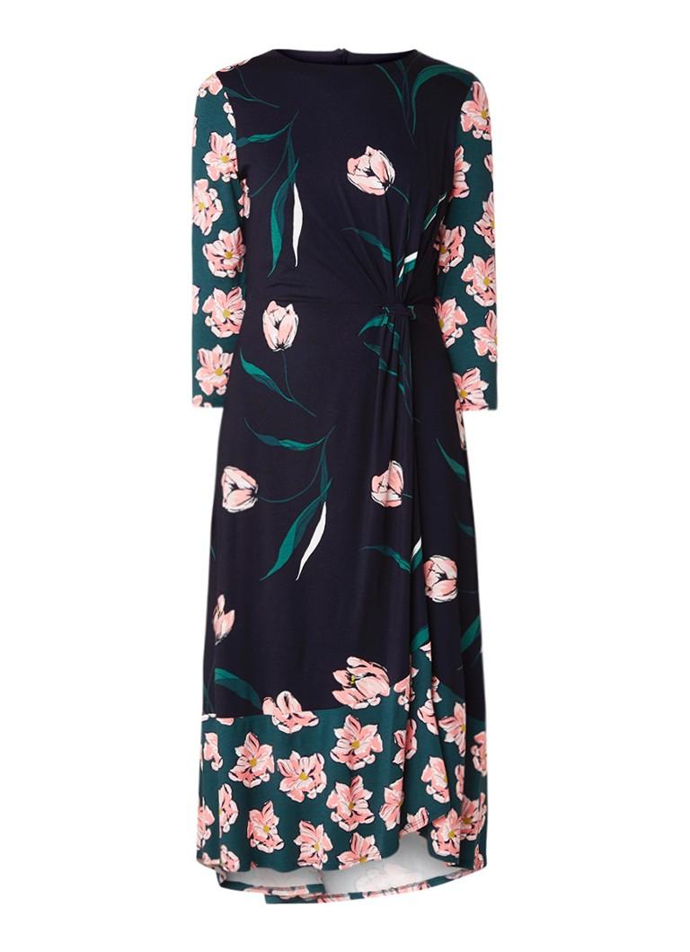 Phase Eight Leto midi-jurk van stretchjersey met bloemendessin zwart