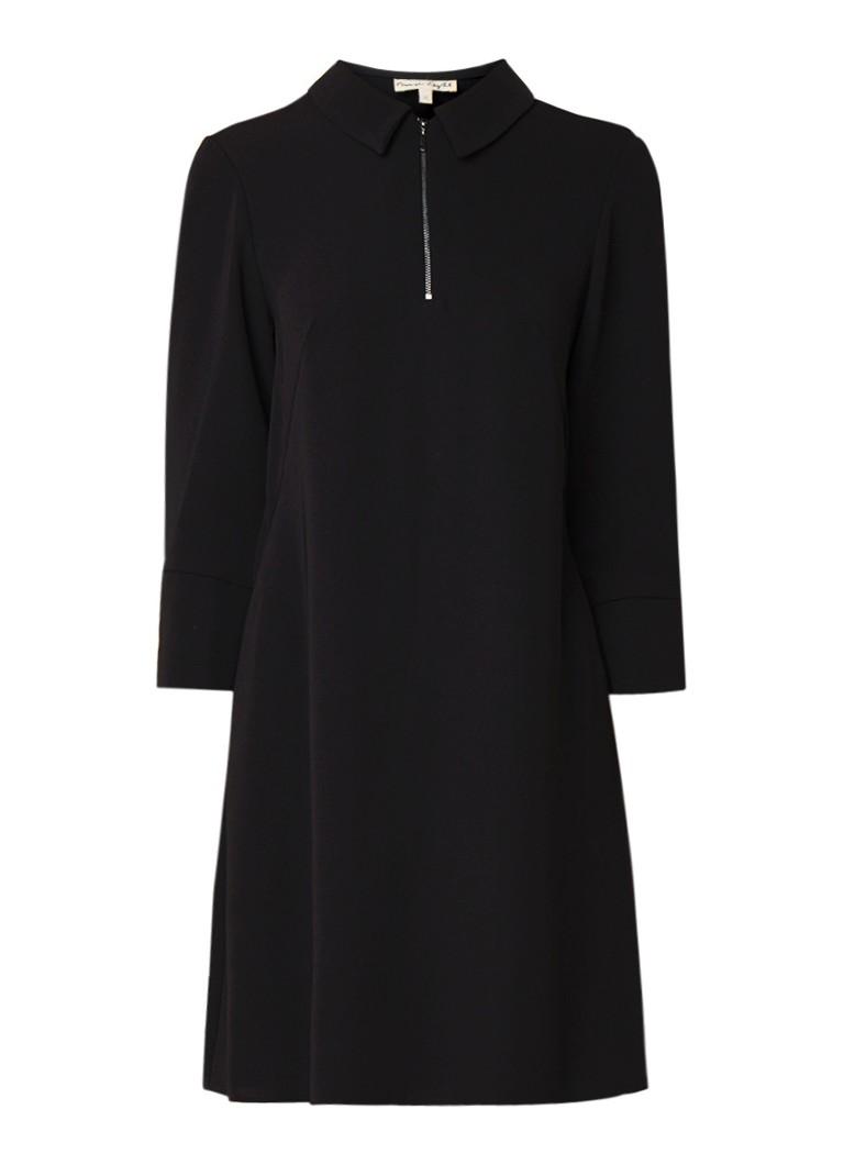 Phase Eight Magdelena A-lijn jurk met halve rits zwart