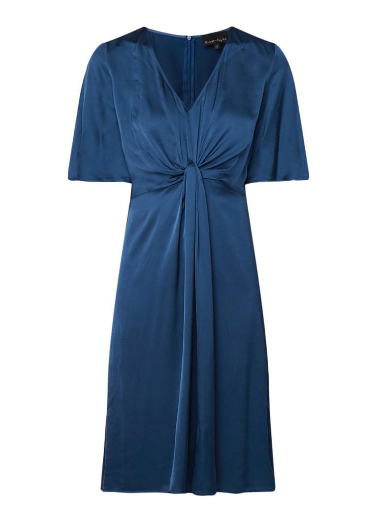 Phase Eight Rosina A-lijn jurk met knoopdetail petrol