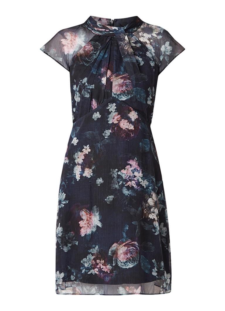 Phase Eight Imogen semi-transparante midi-jurk met bloemendessin zwart