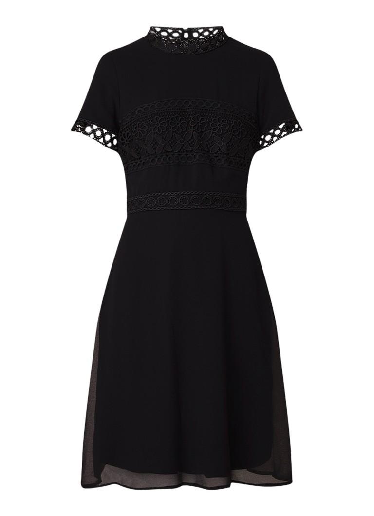 Phase Eight Ivanna midi-jurk met details van guipure kant zwart